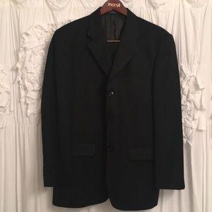 Men's black suit jacket and pants